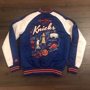 Starter Black Label NY Knicks Satin Bomber Jacket